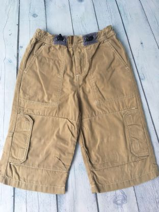 Mini Boden sand coloured long  shorts age 5-6